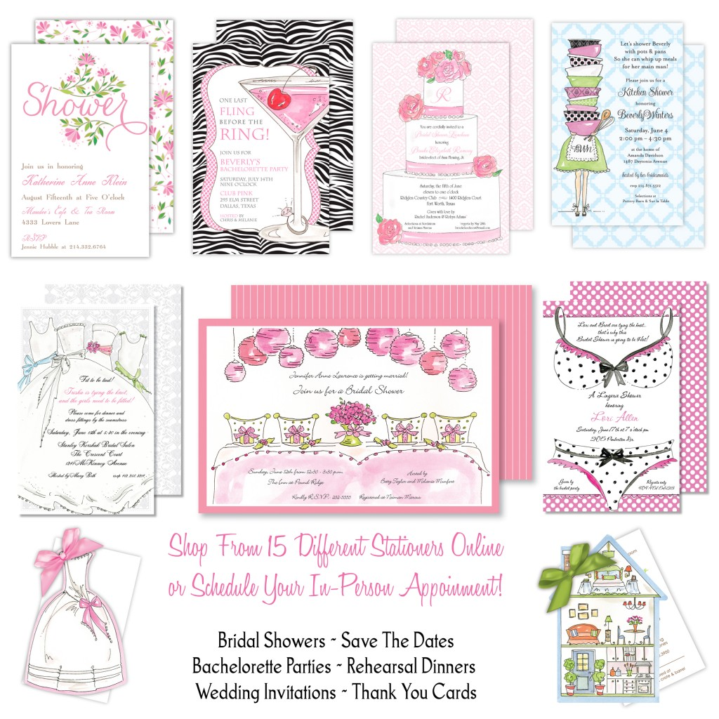 invitations_roseanne_beck wedding_invitations_showers_bachelorette carlson_craft_invitations_san_antonio - Wedding Invitations San Antonio