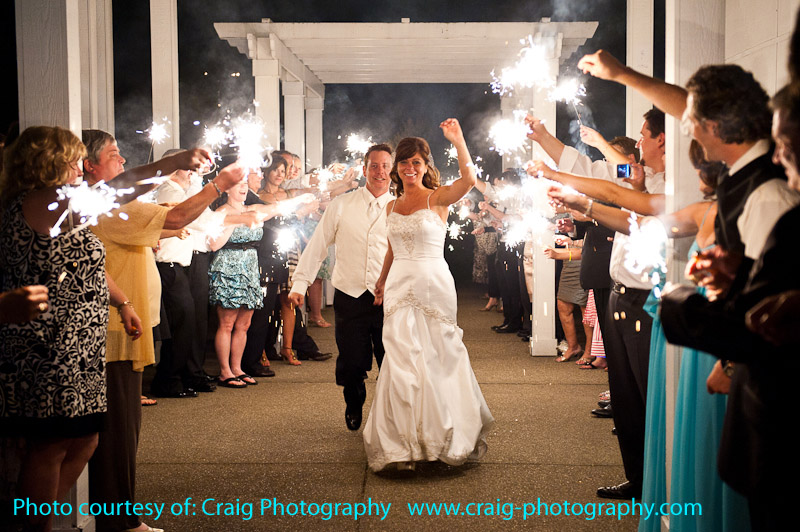 wedding sparklers couple