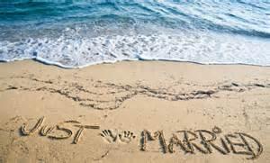 just married beach